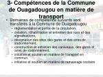 3 comp tences de la commune de ouagadougou en mati re de transport