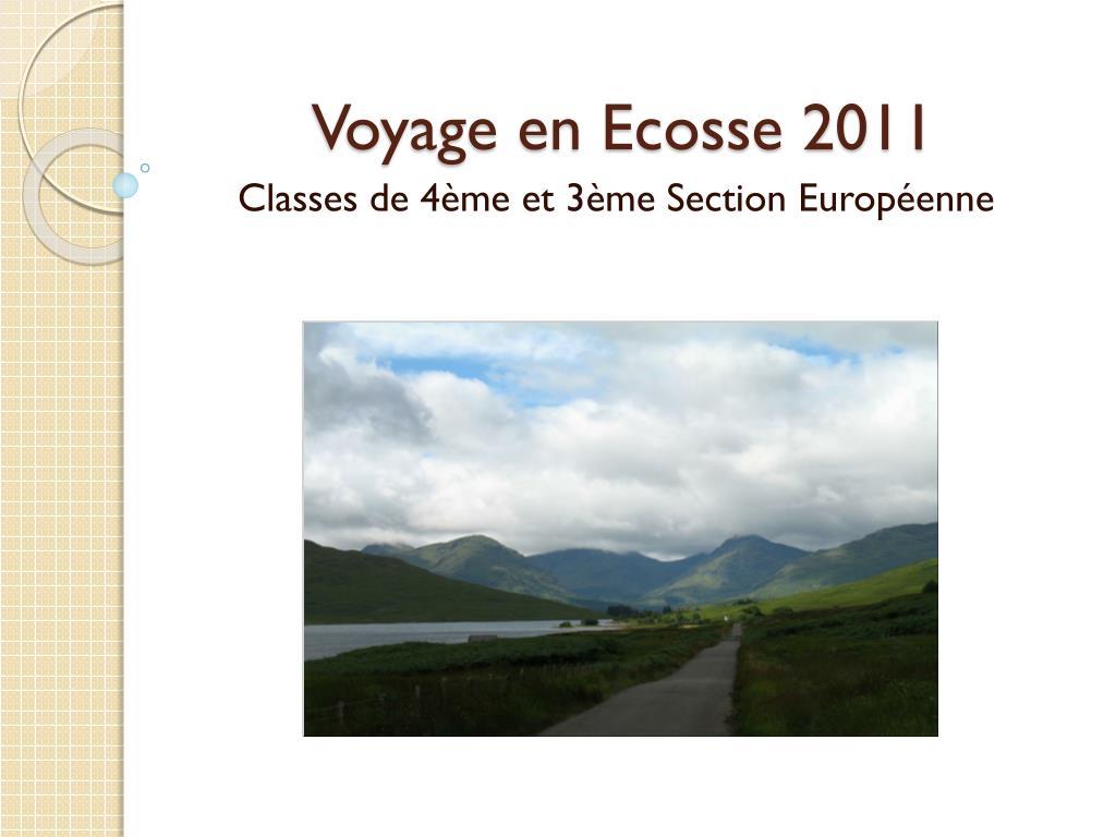 voyage en ecosse 2011 l.