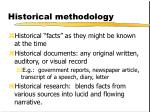 historical methodology