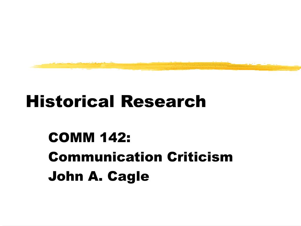 historical research l.
