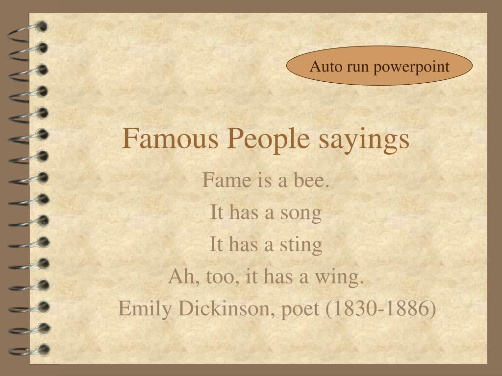 famous people sayings l.