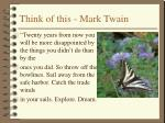 think of this mark twain