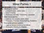minor parties 1