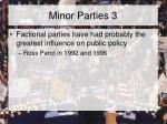 minor parties 3