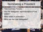nominating a president