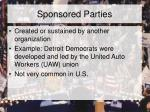 sponsored parties