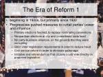 the era of reform 1