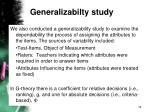 generalizabilty study