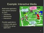 example interactive media