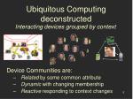 ubiquitous computing deconstructed