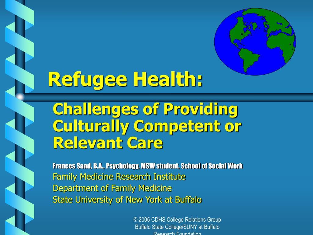refugee health l.