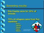 screening results8