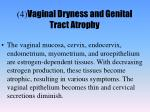 4 vaginal dryness and genital tract atrophy
