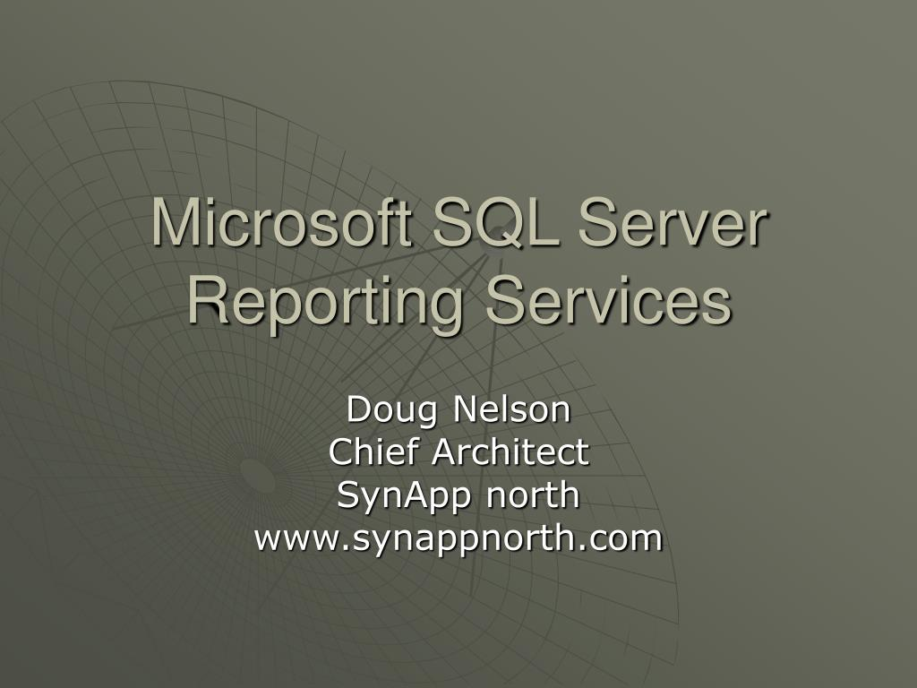 microsoft sql server reporting services l.
