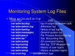 monitoring system log files