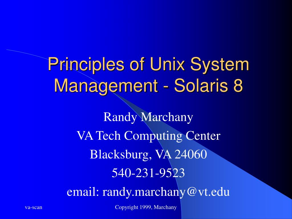 principles of unix system management solaris 8 l.