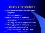solaris 8 installation vi