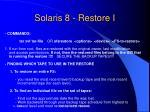 solaris 8 restore i