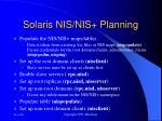 solaris nis nis planning142