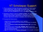 vt scholarpac support