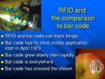 rfid and the comparison to bar code