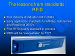 the lessons from standards rfid