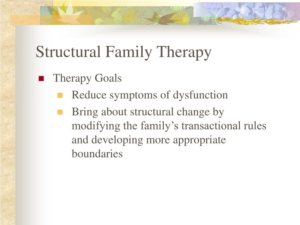 transgenerational and structural family therapy essay Abstract this pape focuses on the basic skills and compentencies of transgenerational approaches to family therapy, the fourth report of a program of research surveys by the basic family therapy skills project.