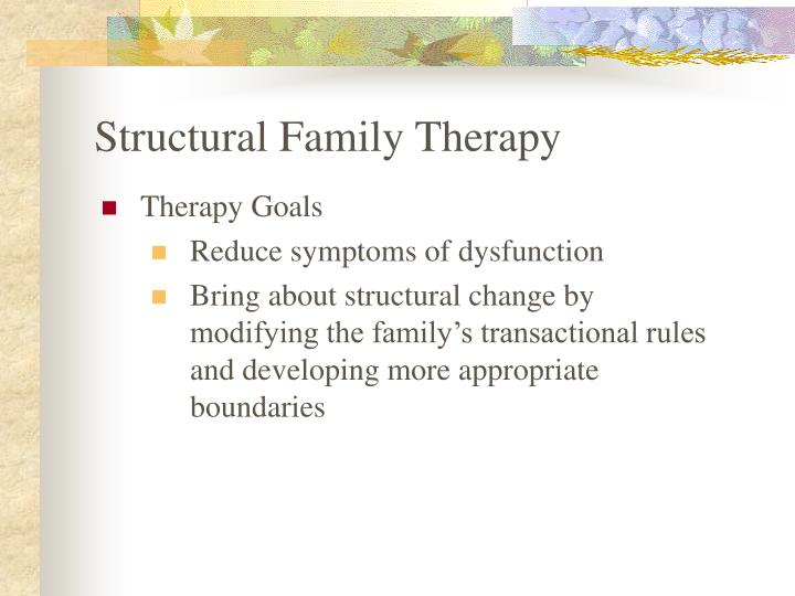 family therapy 2 essay Compare structural family therapy to strategic family therapy and create structural family maps essay although structural therapy and strategic therapy are both used in family therapy, these therapeutic approaches have many differences in theory and application.