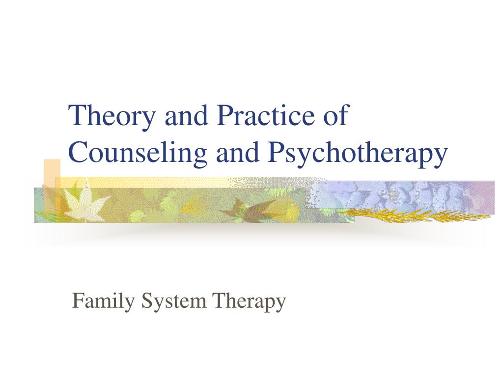 theory and practice of counseling and psychotherapy l.