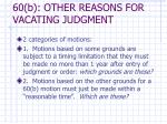 60 b other reasons for vacating judgment