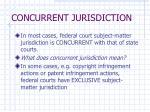 concurrent jurisdiction