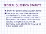 federal question statute