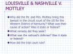 louisville nashville v mottley