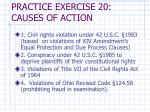 practice exercise 20 causes of action