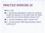 practice exercise 2014