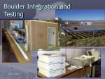 boulder integration and testing
