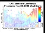 cns standard commercial processing may 20 2000 wind storm