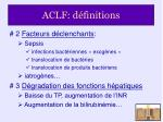 aclf d finitions