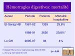 h morragies digestives mortalit