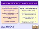 m canismes dissonance immunitaire