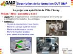 description de la formation dut gmp2