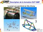 description de la formation dut gmp3