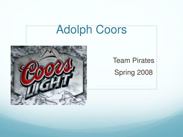 adolph coors n.