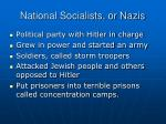 national socialists or nazis