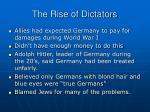 the rise of dictators