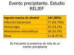 evento precipitante estudio relief