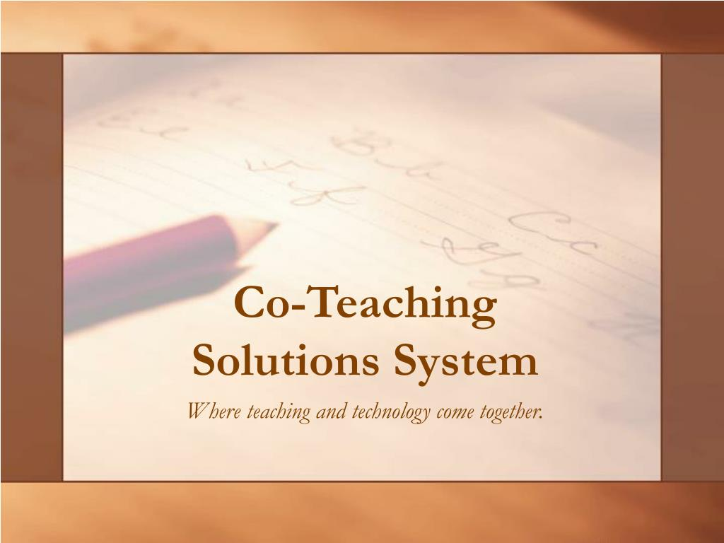 co teaching solutions system l.
