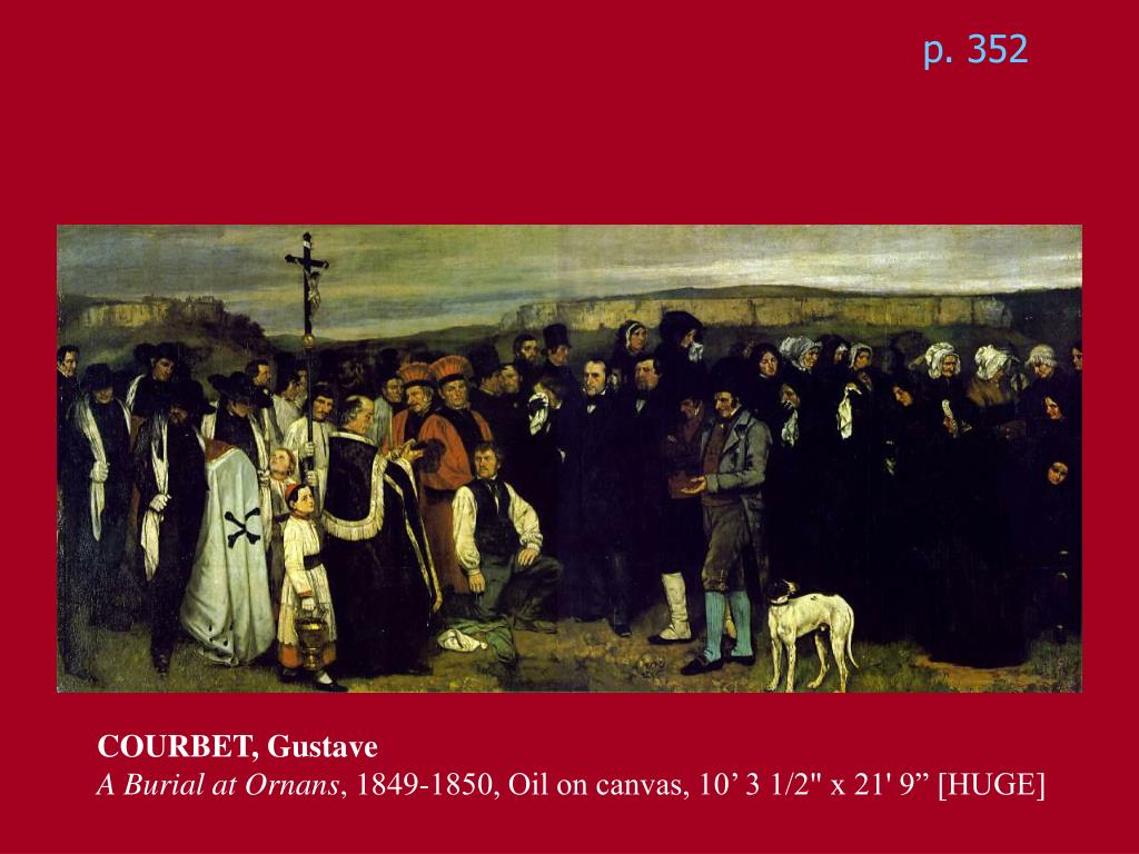 an analysis of gustave courbets 1849 piece burial at ornans
