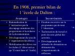 en 1908 premier bilan de l cole de dalton
