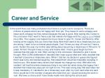 career and service